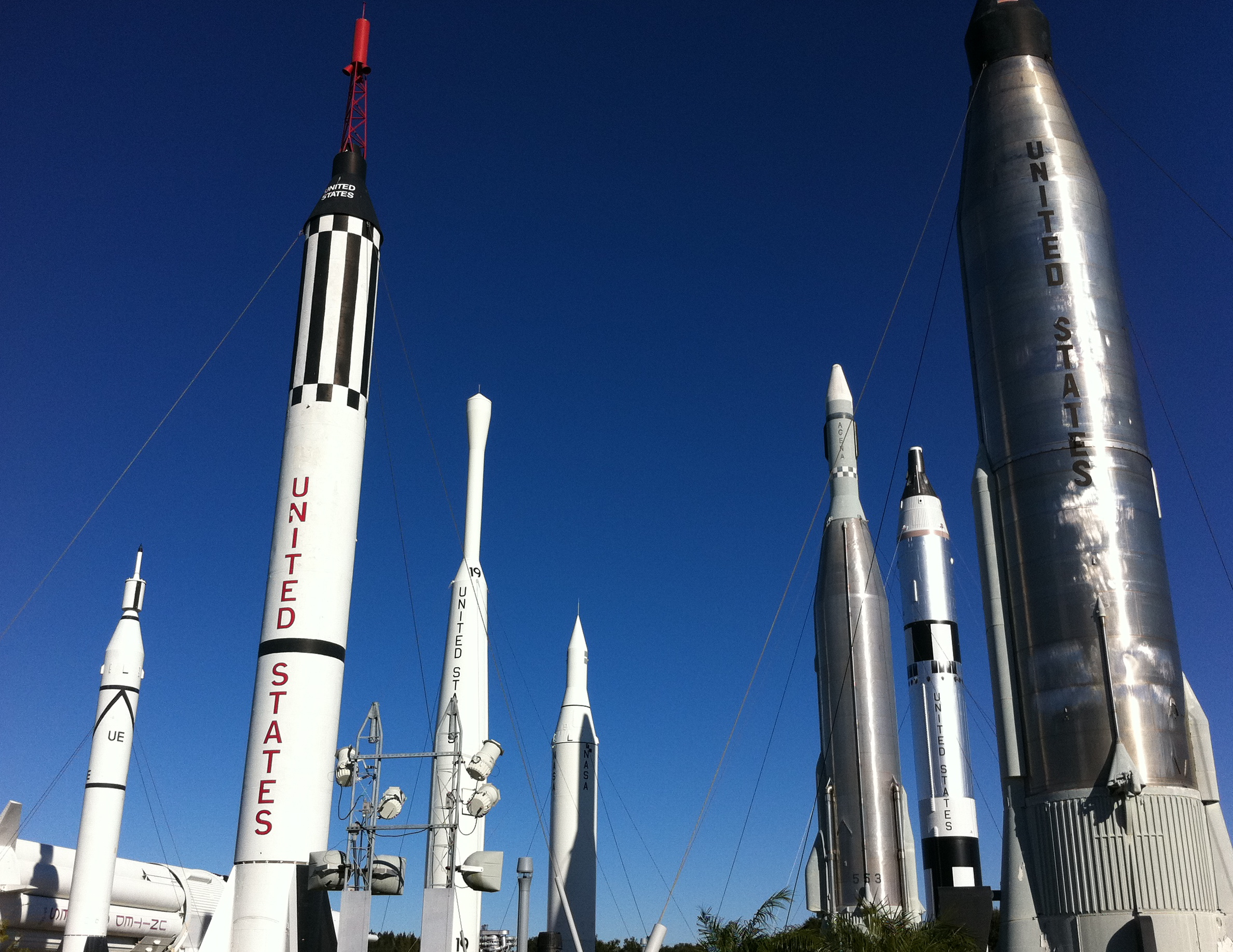 rocket garden kennedy space center - photo #9