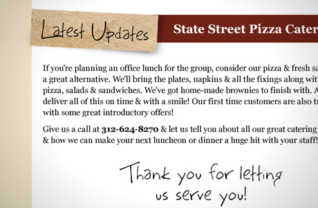 State Street Pizza - Marshall Creative