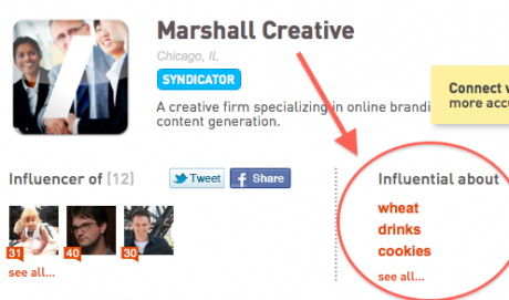 Klout Screen Shot - Marshall Creative